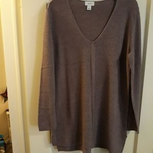 Vneck tunic sweater